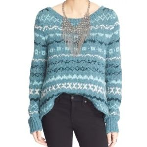 NWT Free People through the storm sweater